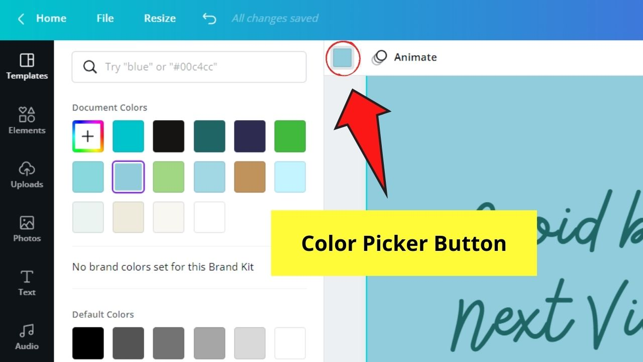 Changing Infographic Template Colors