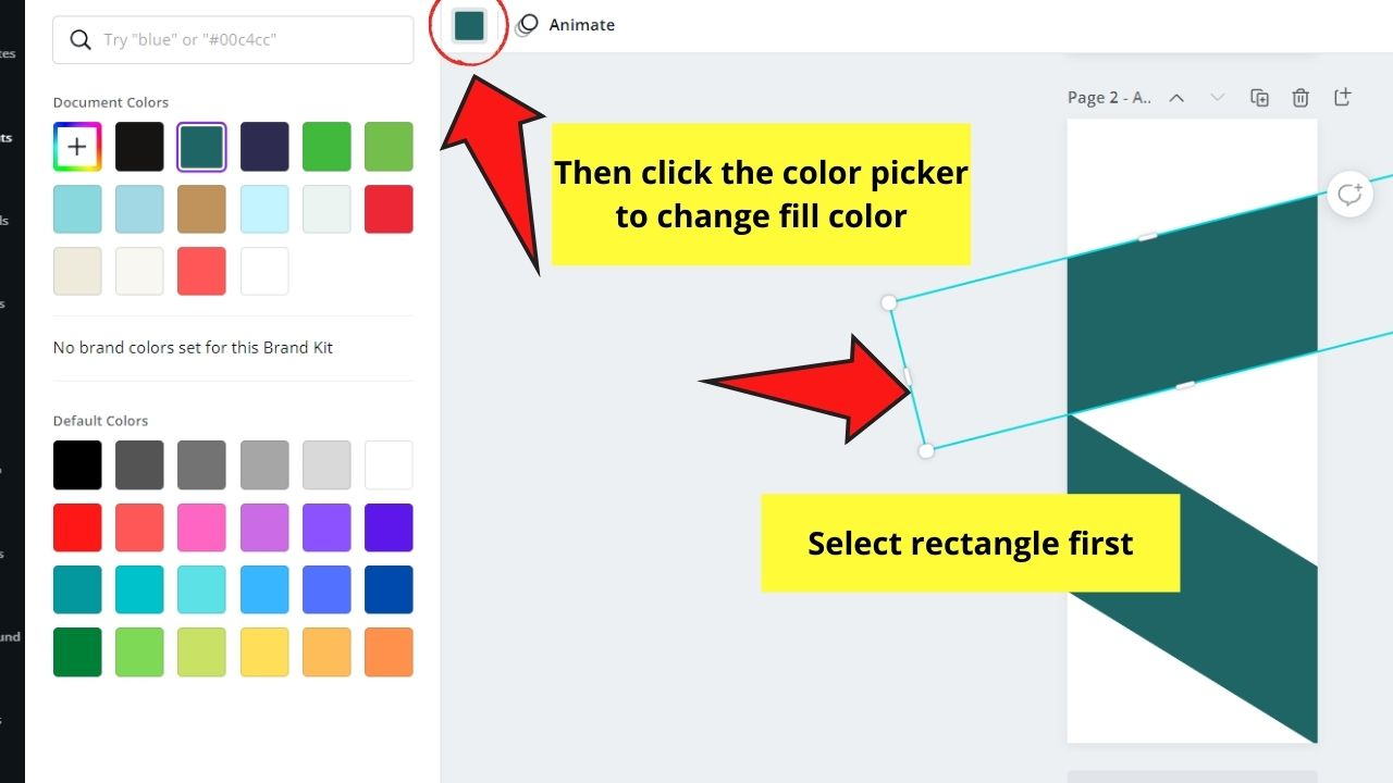 Changing Rectangles Fill Colors
