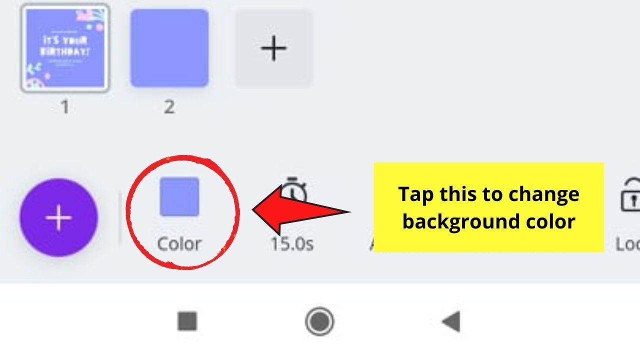 Choosing Background Color