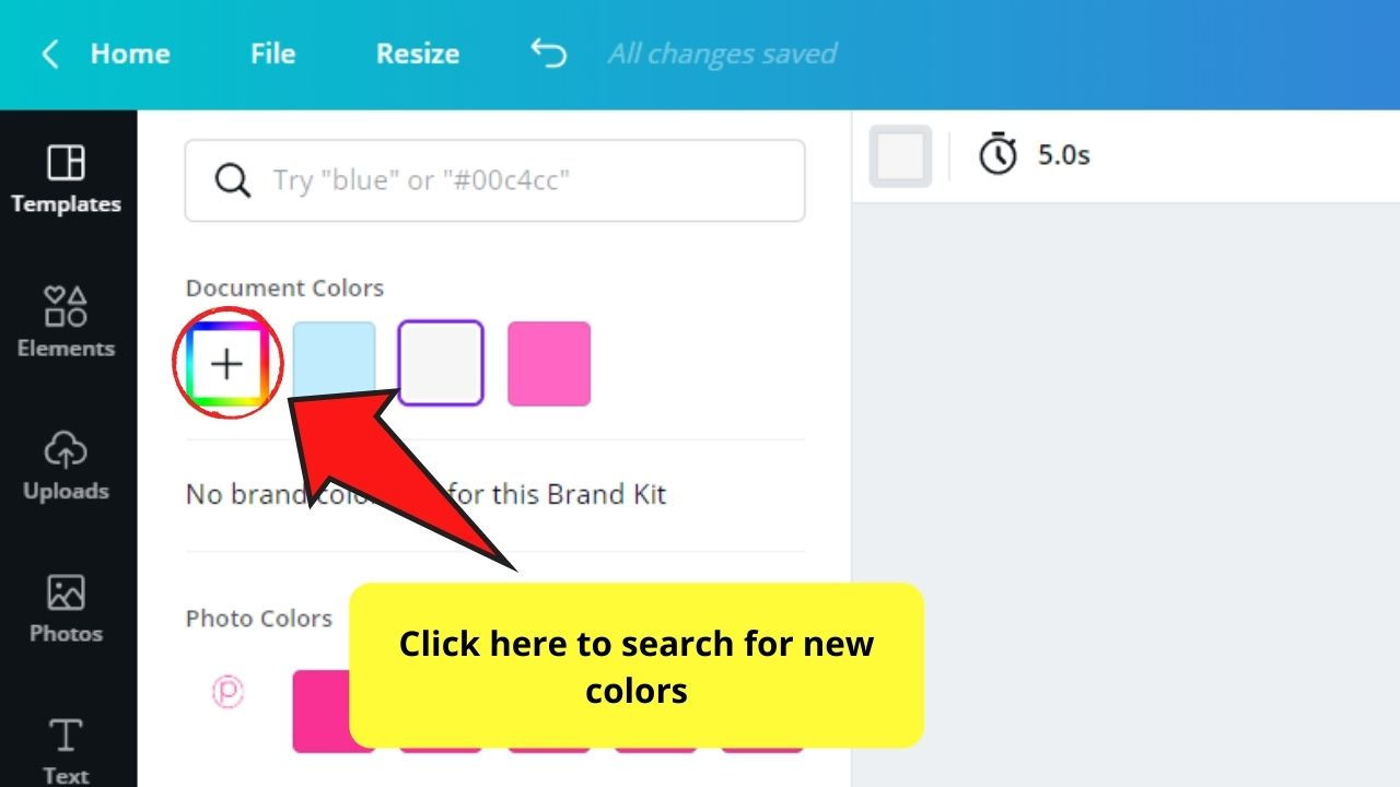 Choosing New Color for Background