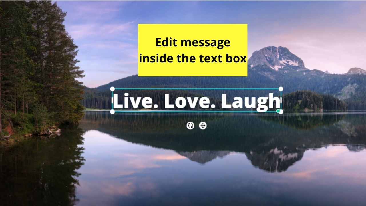 Editing the Message in the Text Box