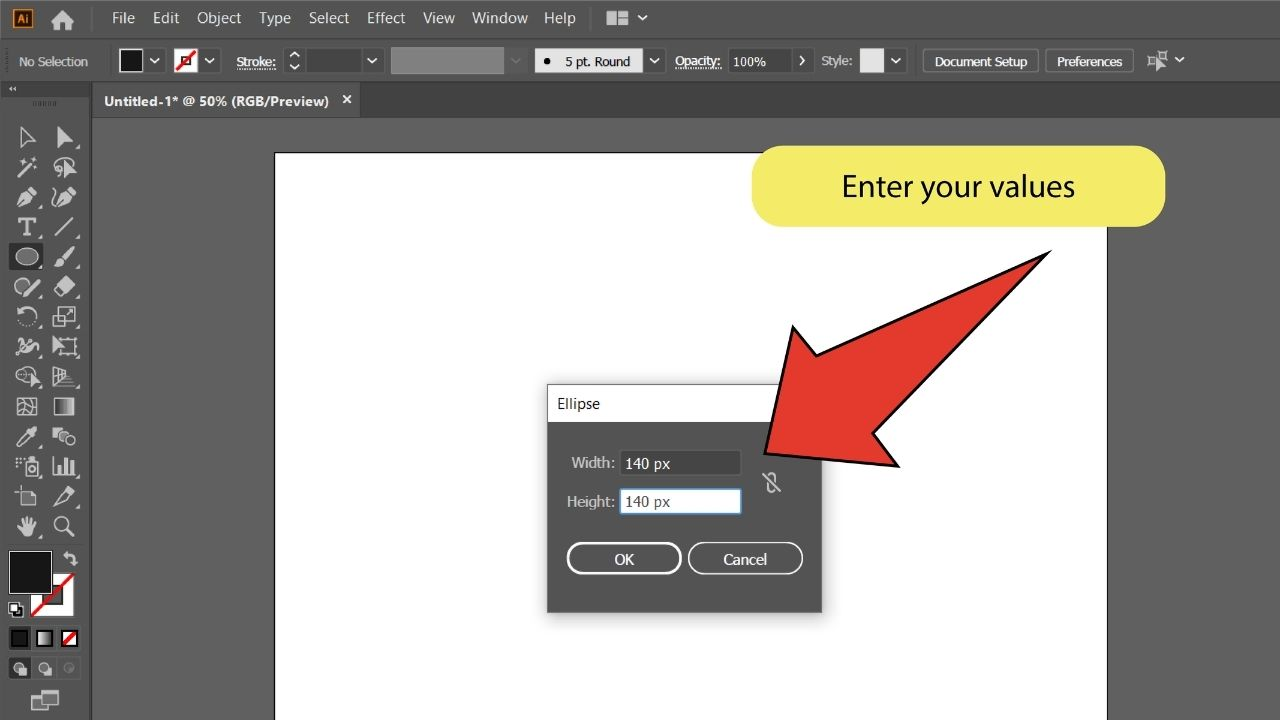 How to Blend Objects in Illustrator Step 1