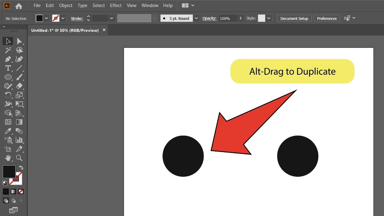 How to Blend Objects in Illustrator Step 5