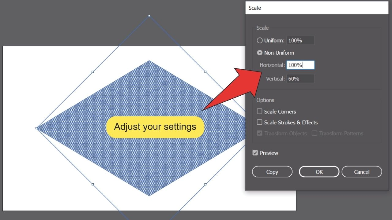 How to make a Grid in Illustrator Step 10