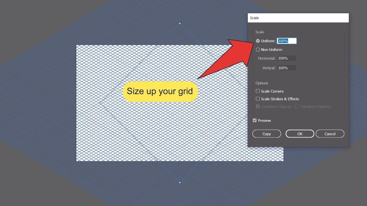 How to make a Grid in Illustrator Step 11