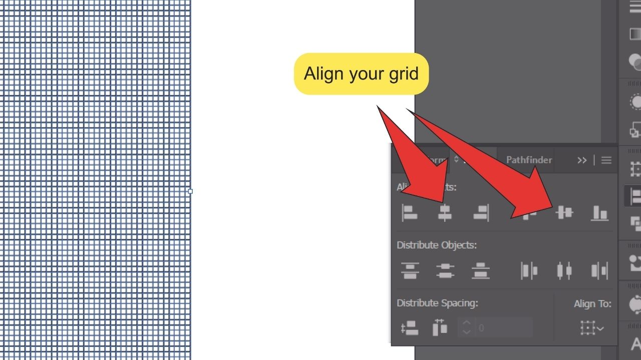How to make a Grid in Illustrator Step 6