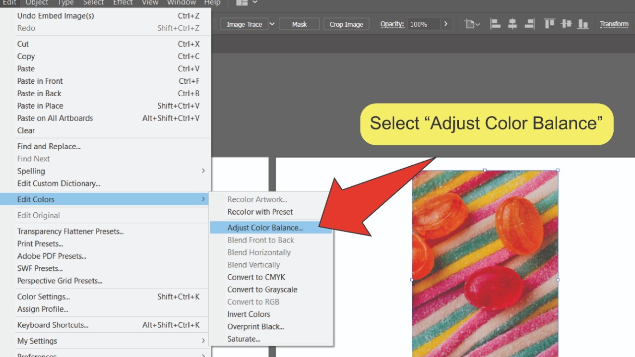 Changing Multiple Colors In An Image In Illustrator Step 1
