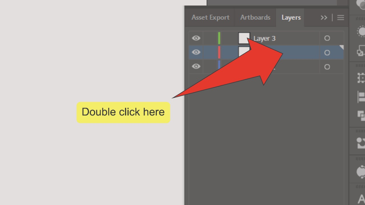 How to change the layer color in Illustrator Step 5