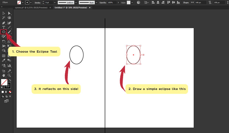 How to make Symmetrical Shapes Step 10