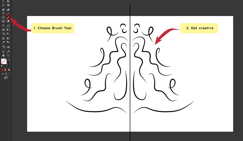 How to make Symmetrical Shapes Step 12