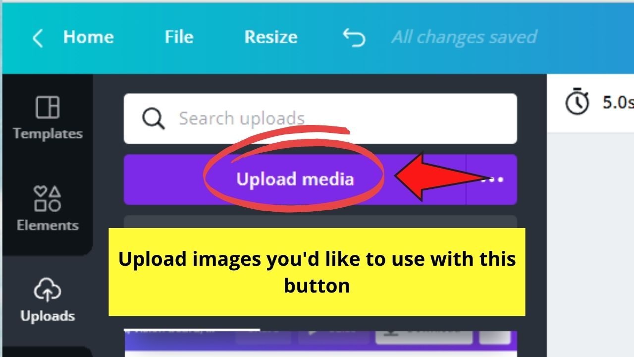Import Pictures from Device to Canva