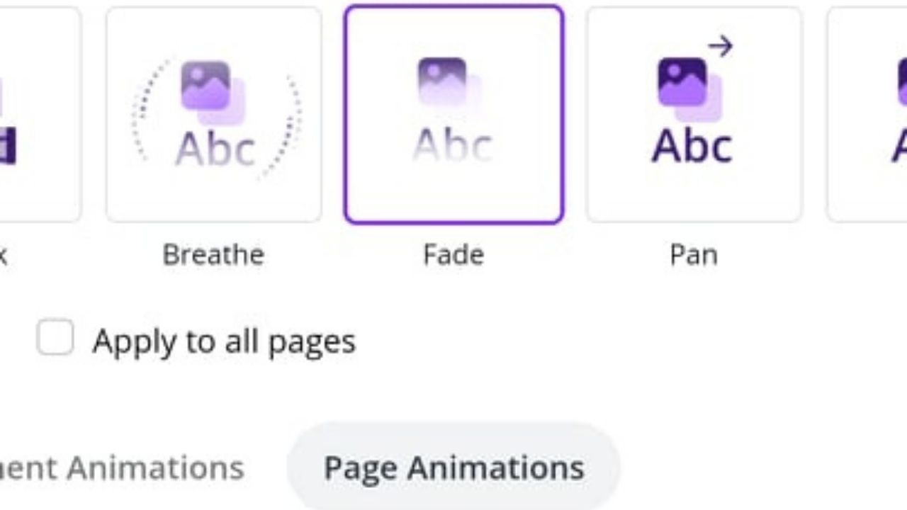 Page Animations