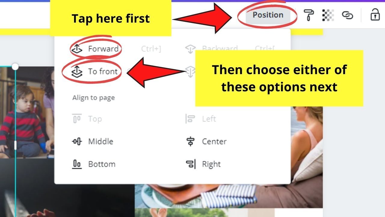 Positioning Images through Position Button