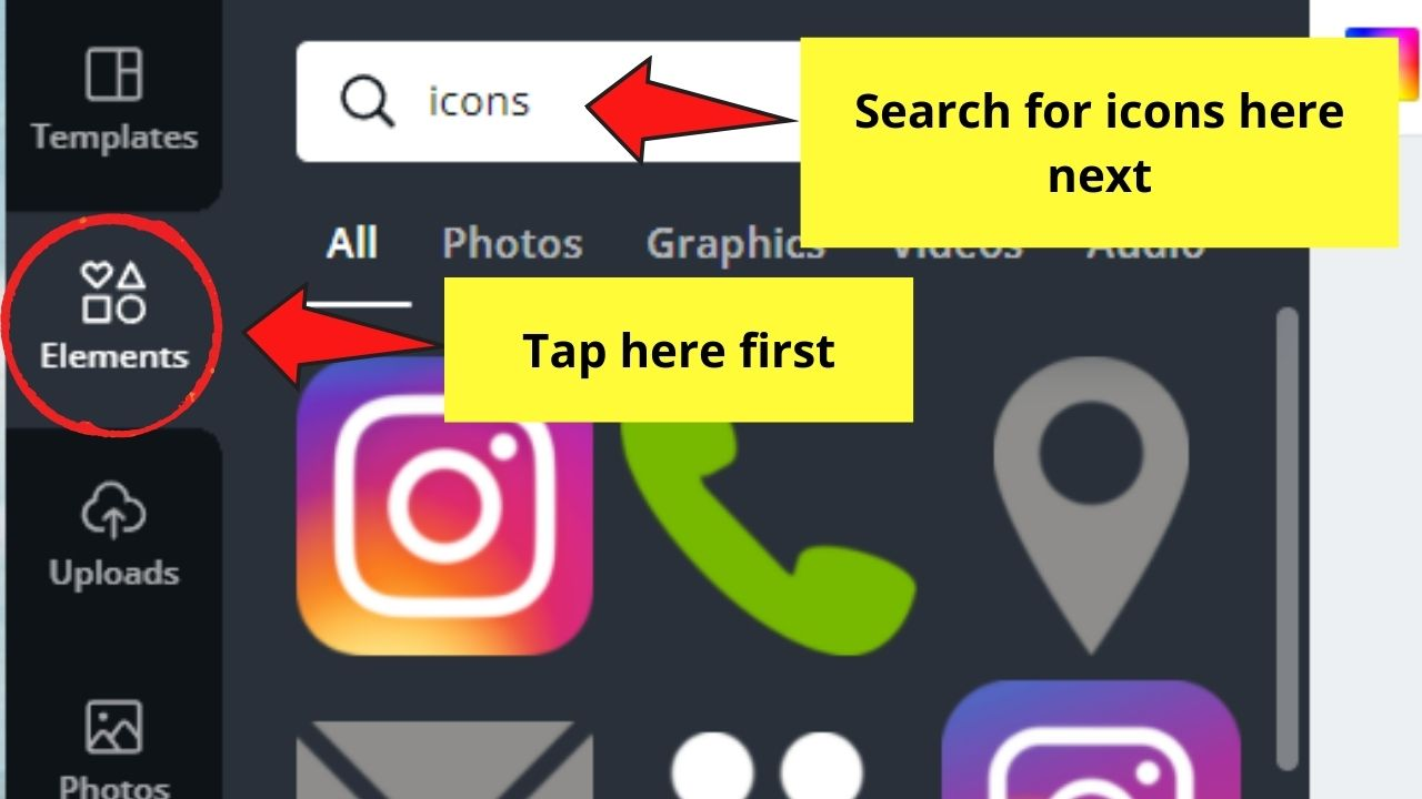 Searching for Icons