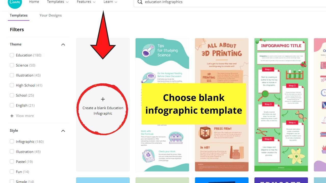 Selecting Blank Template