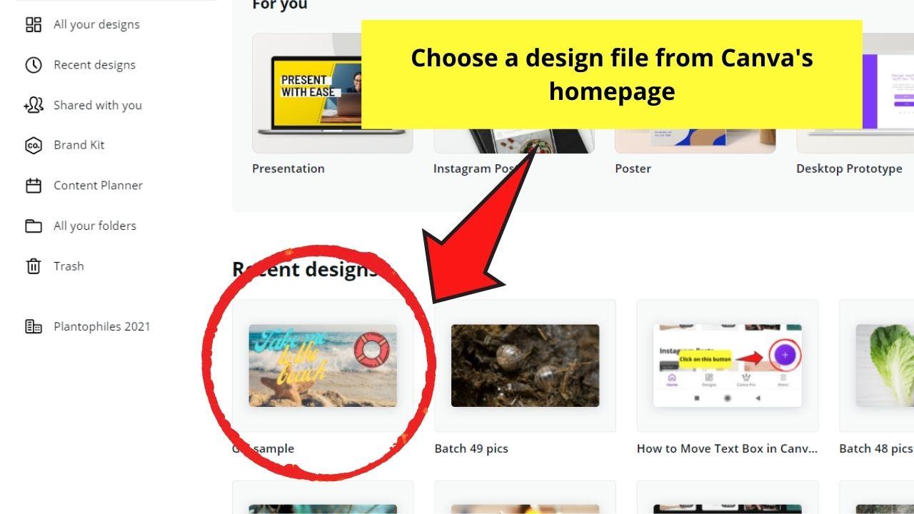 Selecting Design File