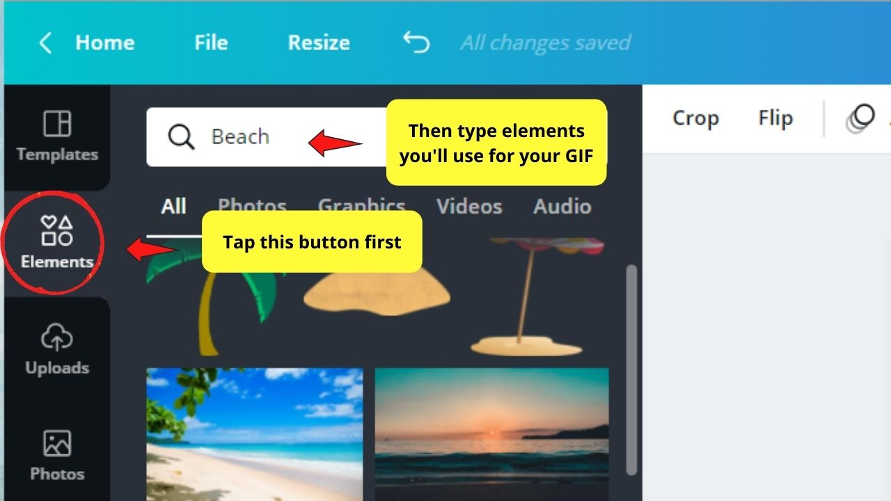 Selecting Elements for your GIF