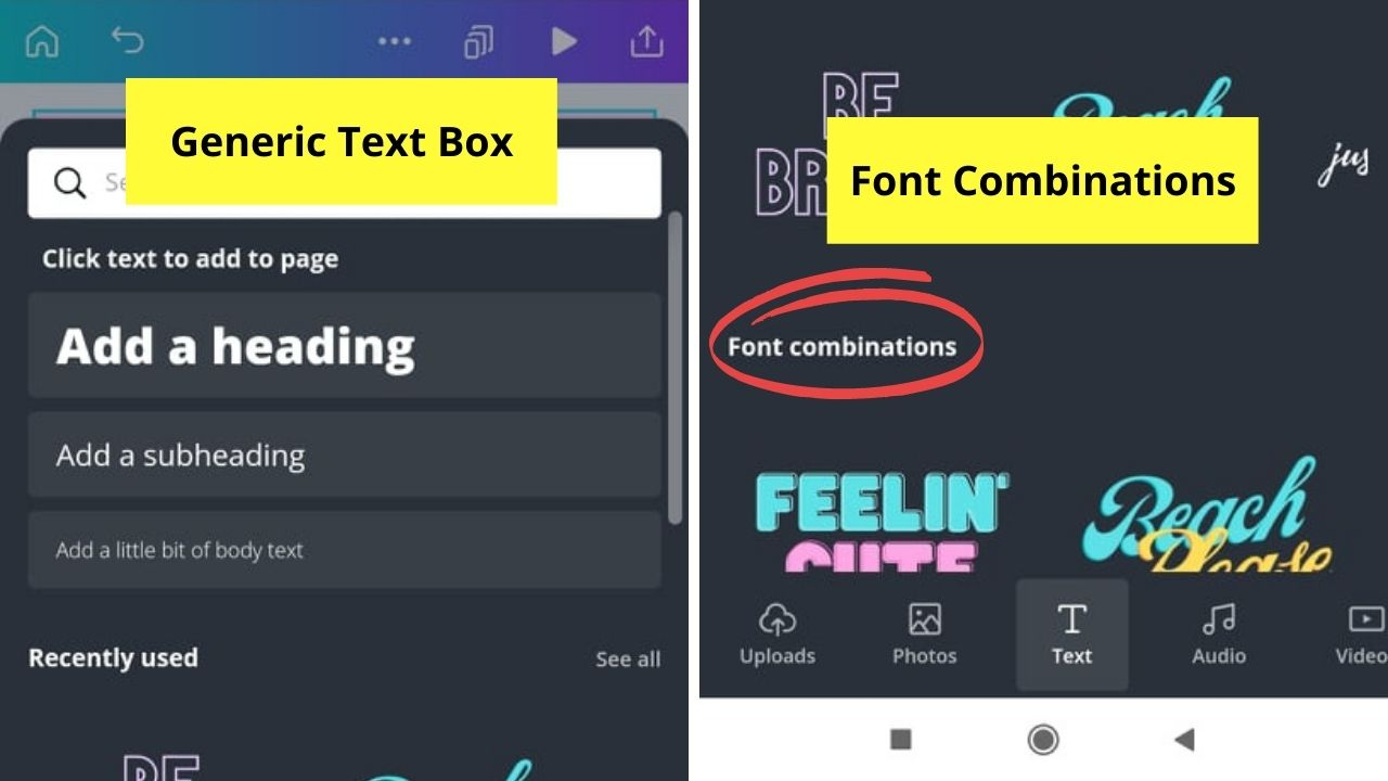 Selecting Font Style