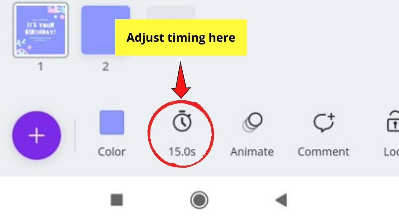 Timing Button
