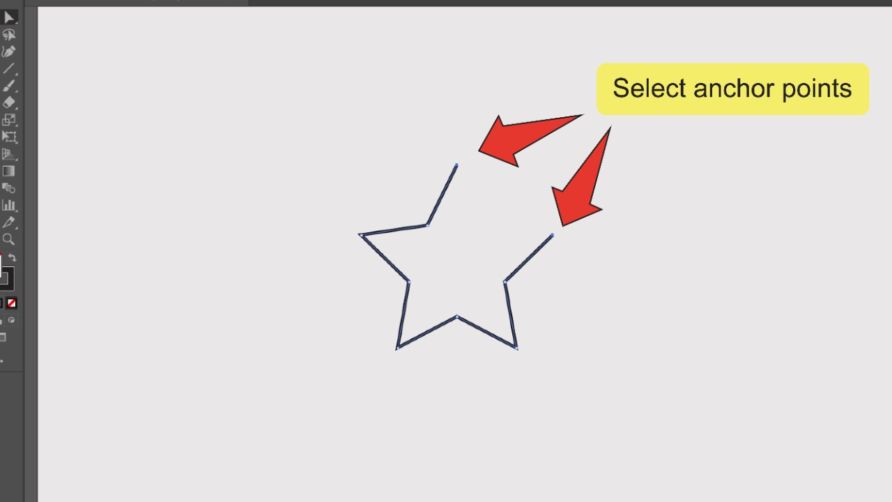 Merging Paths In Illustrator Using The Join Command Step 3