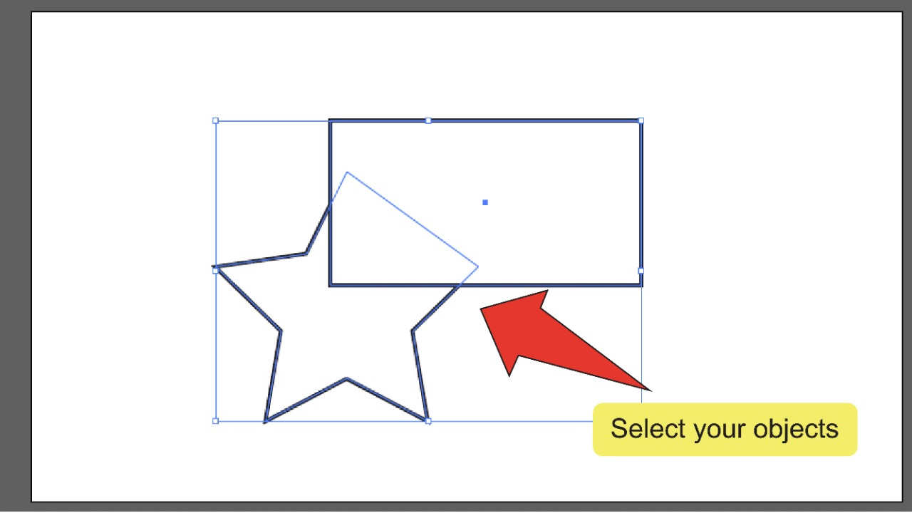 Merging Paths In Illustrator Using The Pathfinder Panel Step 2