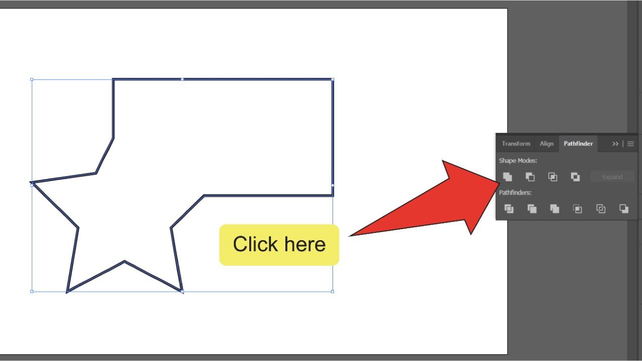 Merging Paths In Illustrator Using The Pathfinder Panel Step 4