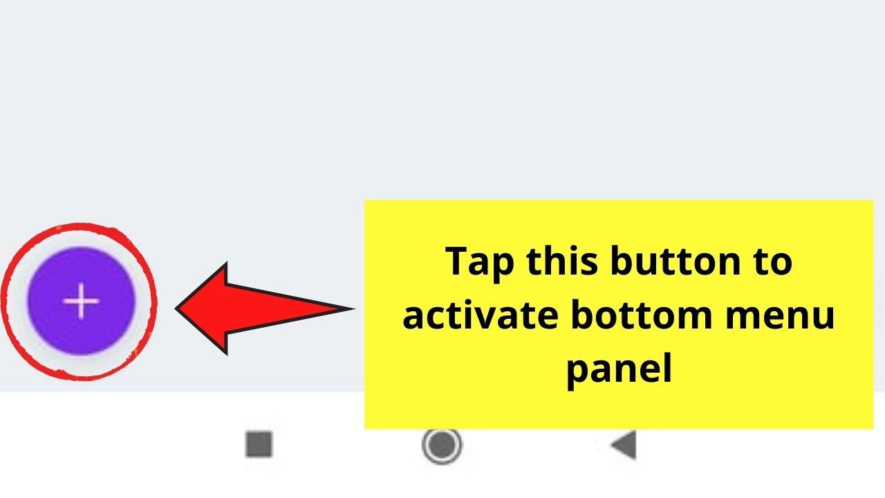 Activating Bottom Menu Panel