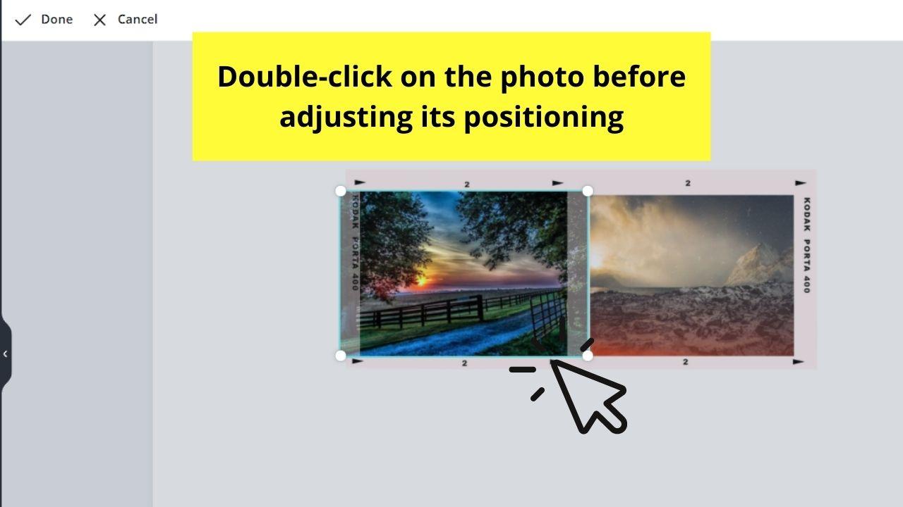 Adjusting Crop Positioning of Photo inside Frame