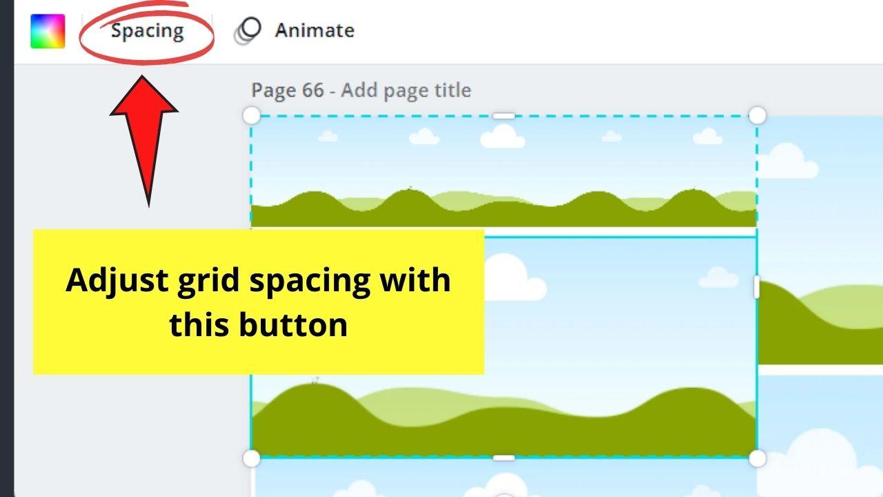Adjusting Grid Spacing
