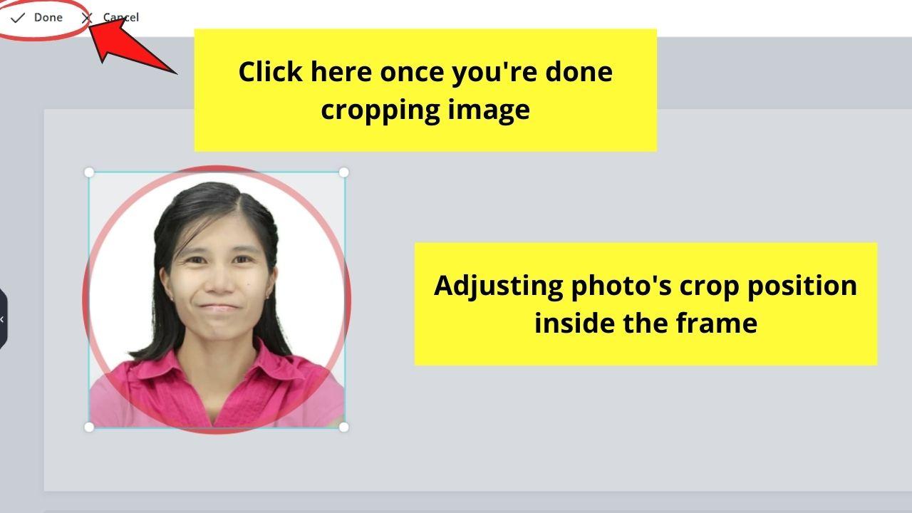 Adjusting Photo's Crop Positioning Inside Frame