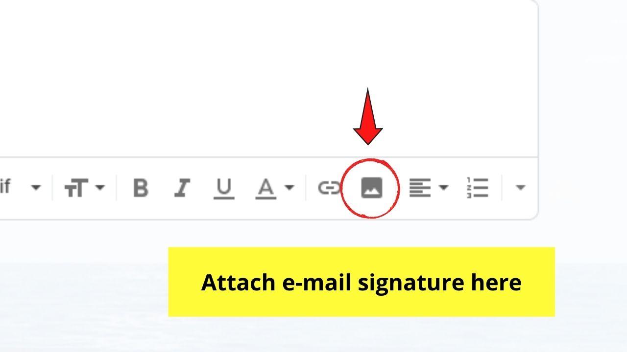 Attaching E-mail Signature