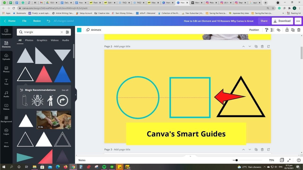 Canva's Smart Guides