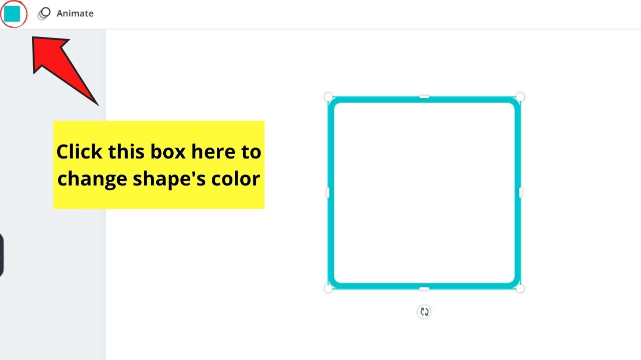 Changing Shape's Color
