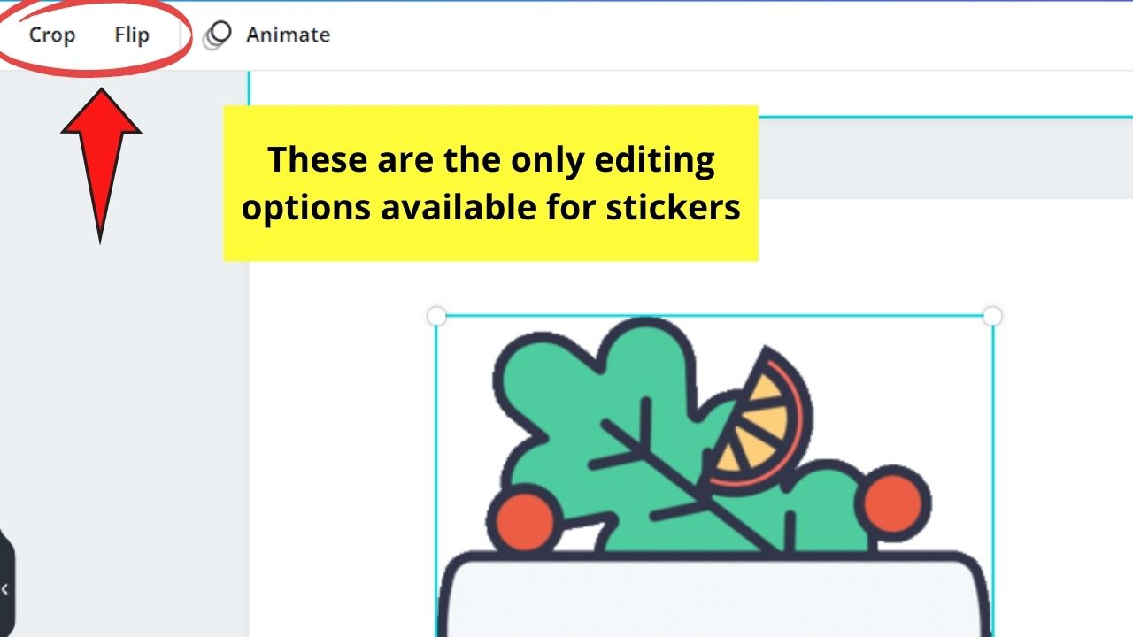 Cropping and Flipping Stickers