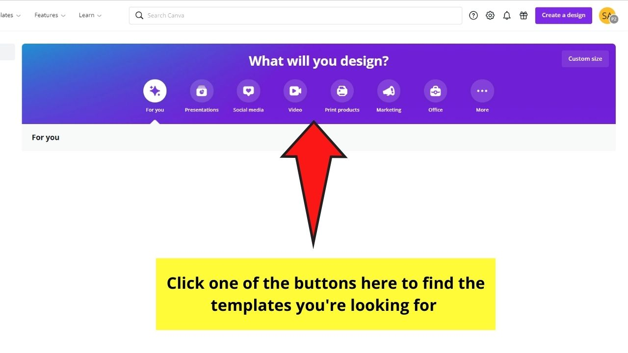 Design Buttons in Canva