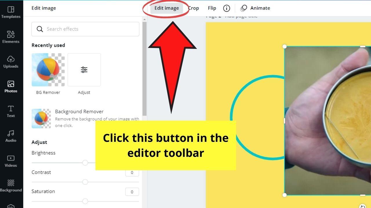 Edit Image Button