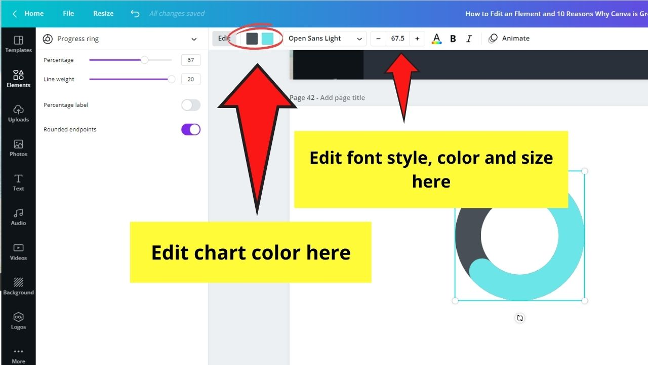 Editing Chart Colors and Fonts