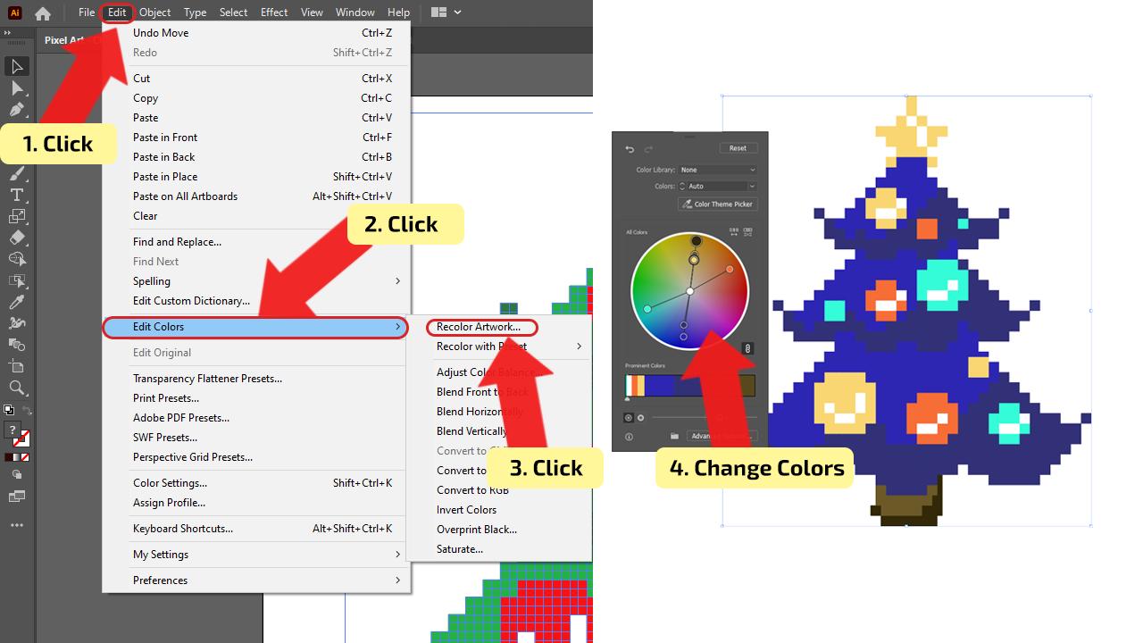 How to make Pixel Art in Illustrator Step 13