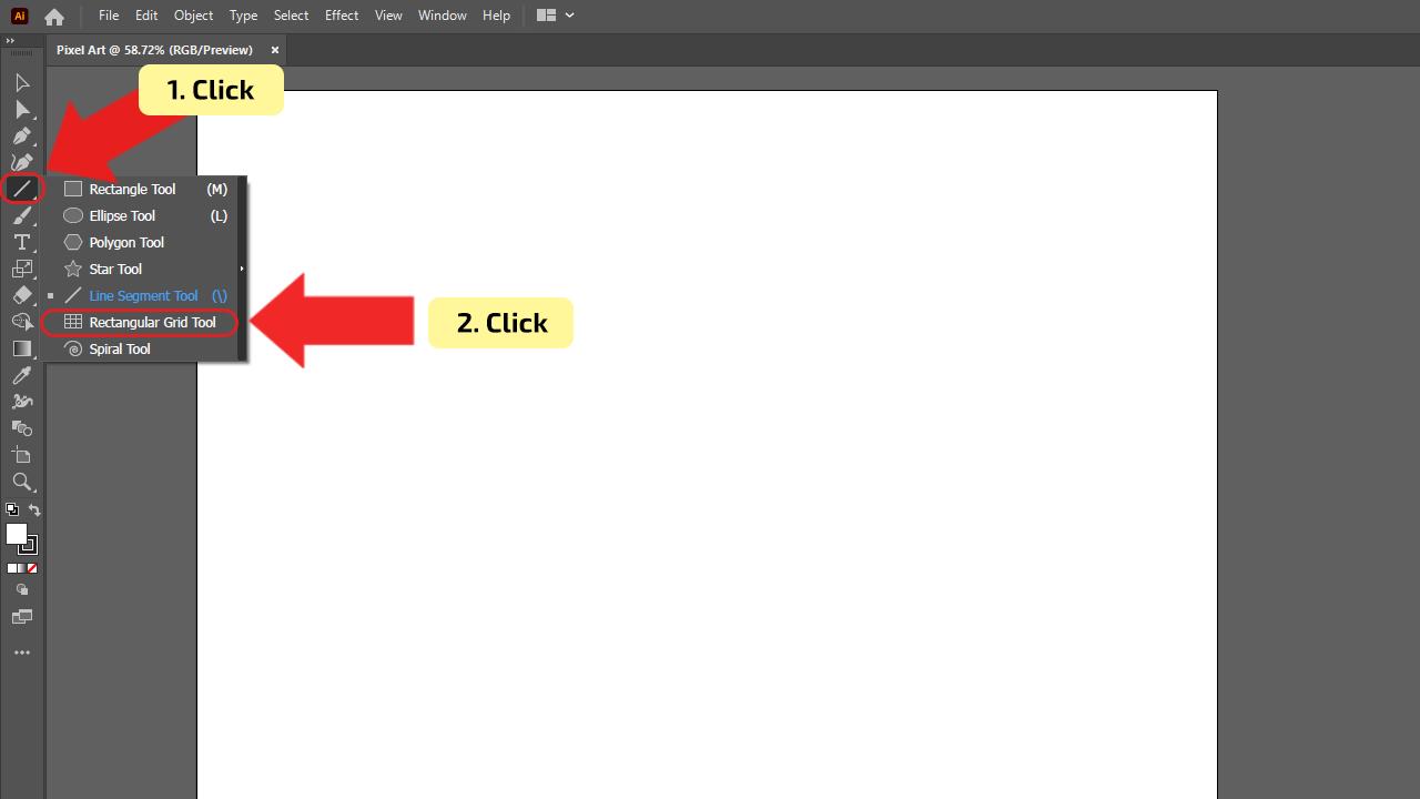 How to make Pixel Art in Illustrator Step 2