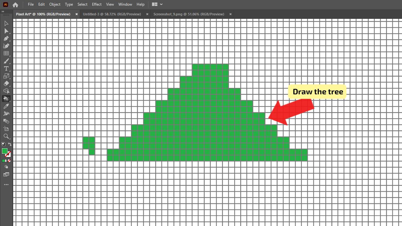 How to make Pixel Art in Illustrator Step 7