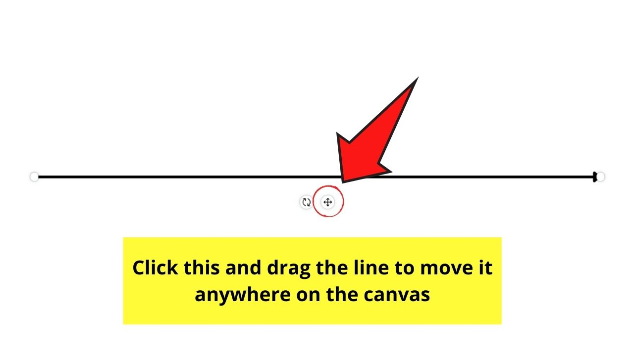 Moving Line on the Canvas