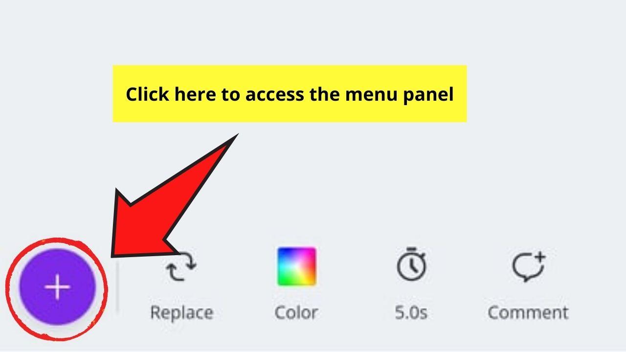 Opening Menu Panel