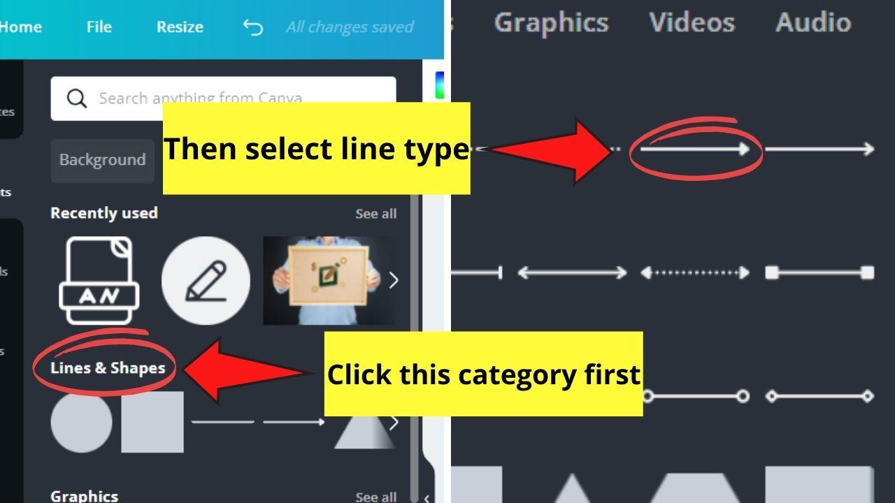 Selecting Line