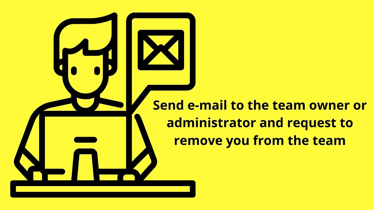 Send Email Request to Remove You from the Canva Team