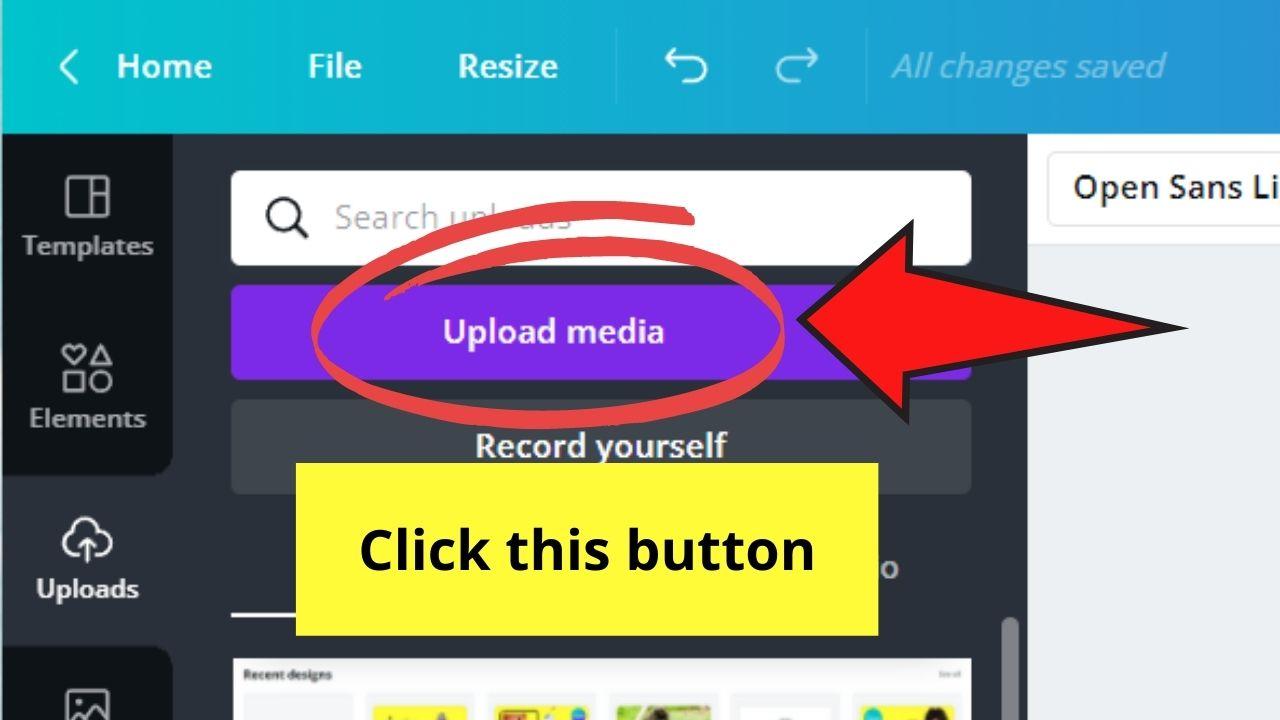 Upload Media Button